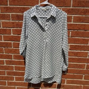 Dleione Nordstrom Popover Blouse tunic small